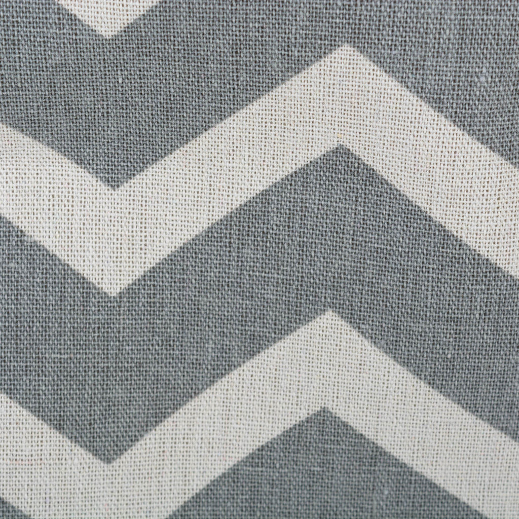 DII Polyester Bin Chevron Gray Rectangle Large