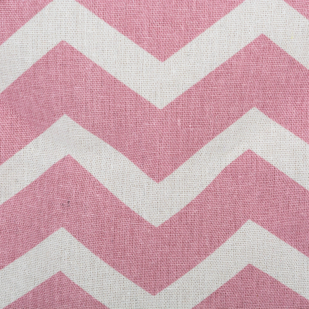 DII Polyester Bin Chevron Rose Rectangle Large