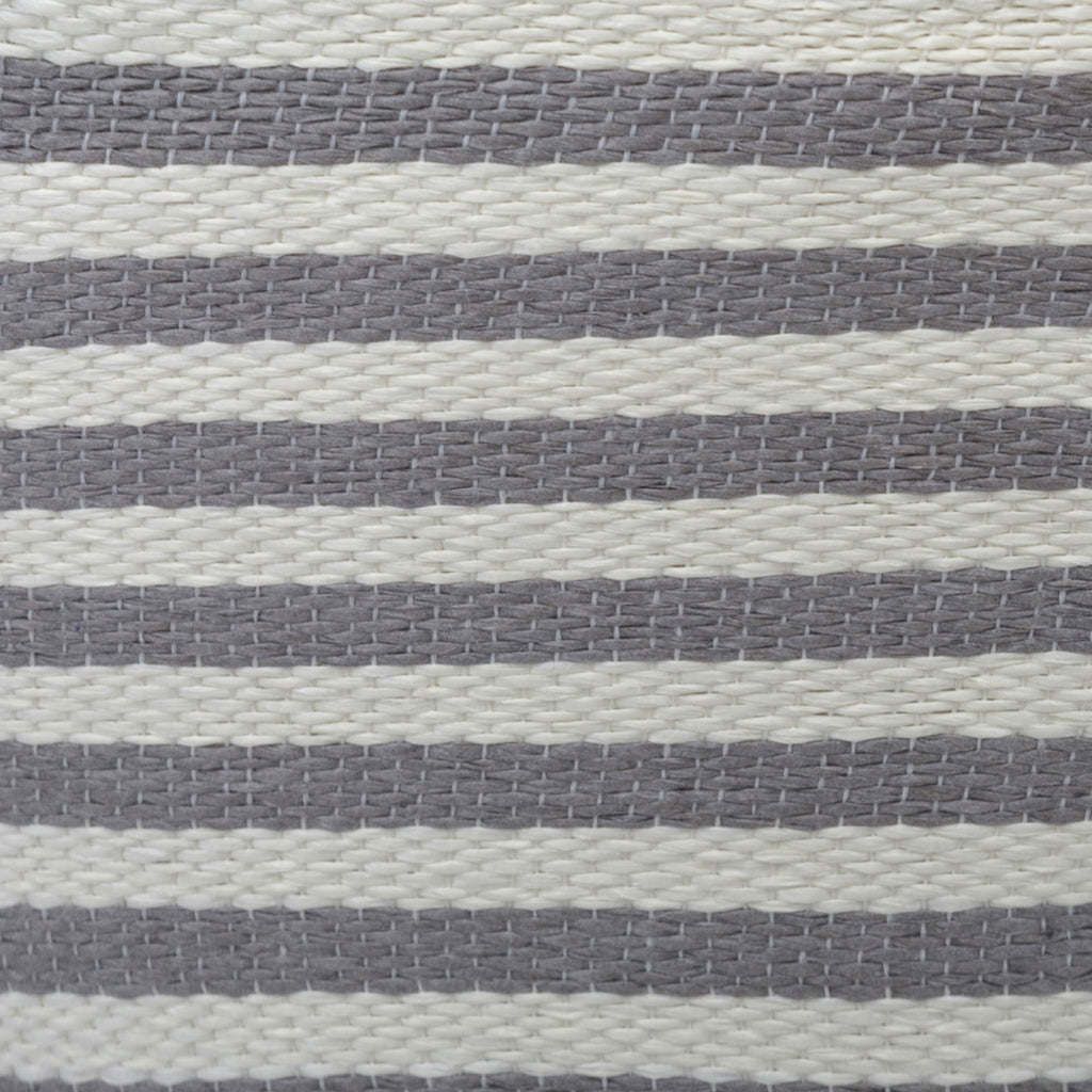 DII Paper Bin Pinstripe Gray Rectangle Large
