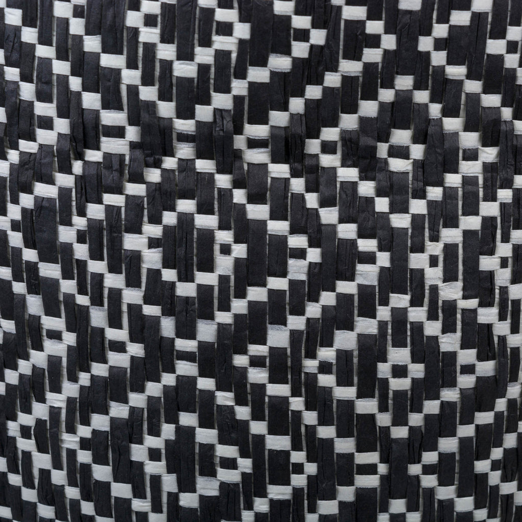 DII Paper Bin Diamond Basketweave Black/White Rectangle Medium