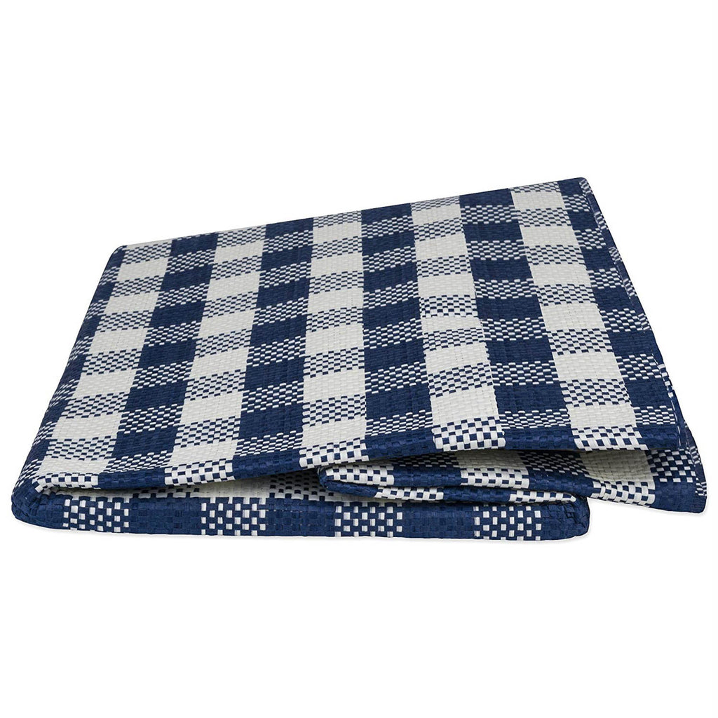 DII Paper Bin Checkers Navy Rectangle Medium