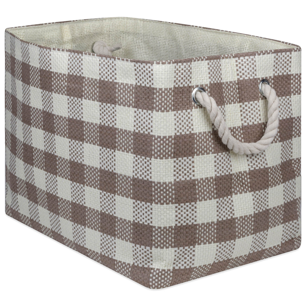 Paper Bin Checkers Stone Rectangle Medium 15x10x12