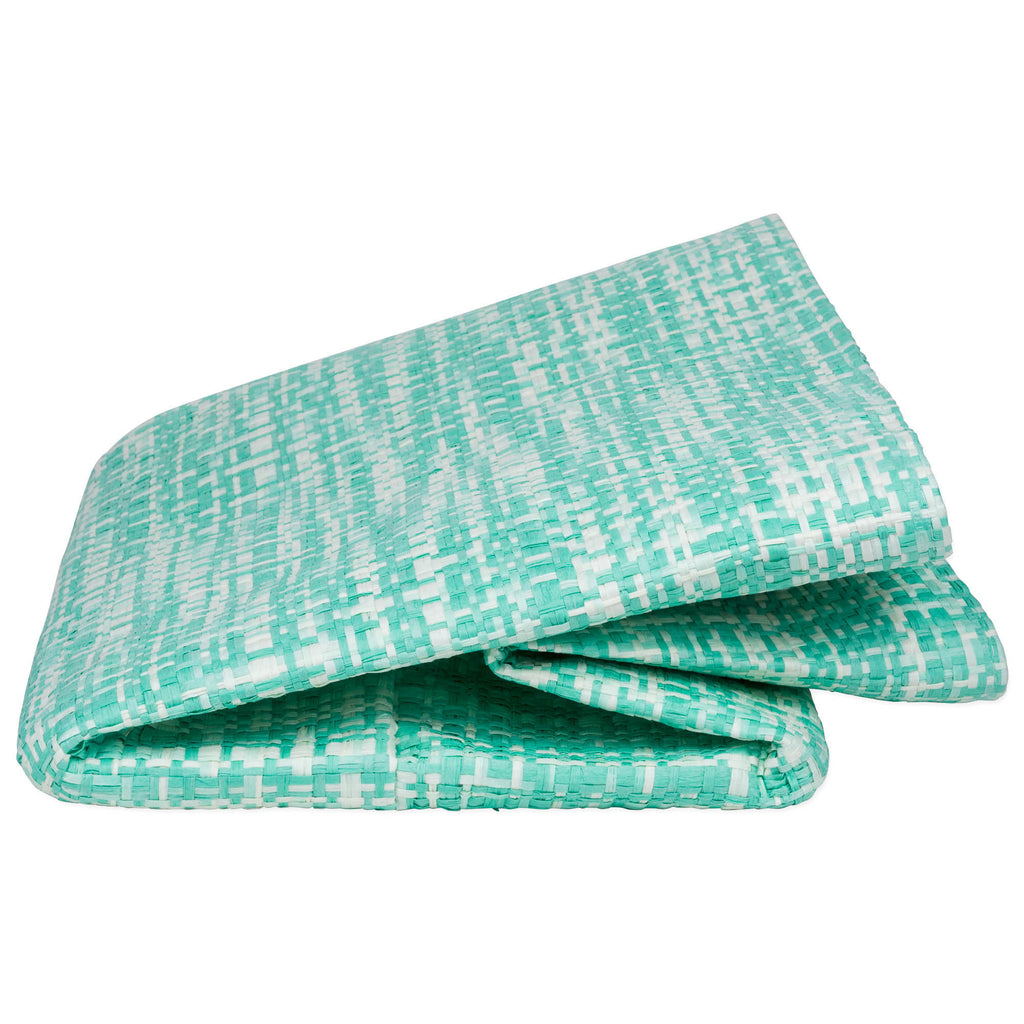 DII Paper Bin Tweed Aqua Rectangle Medium