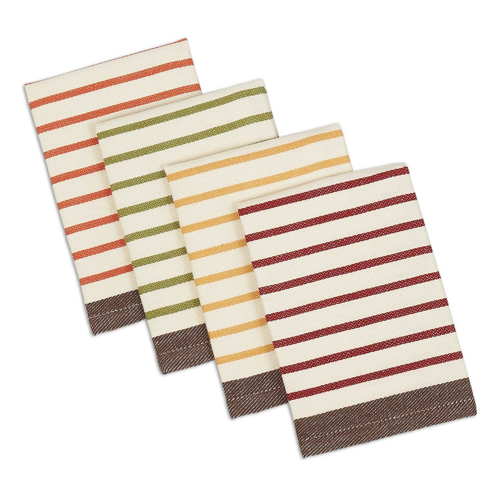 Harvest Prep Stripe Woven Dishcloth Set/4