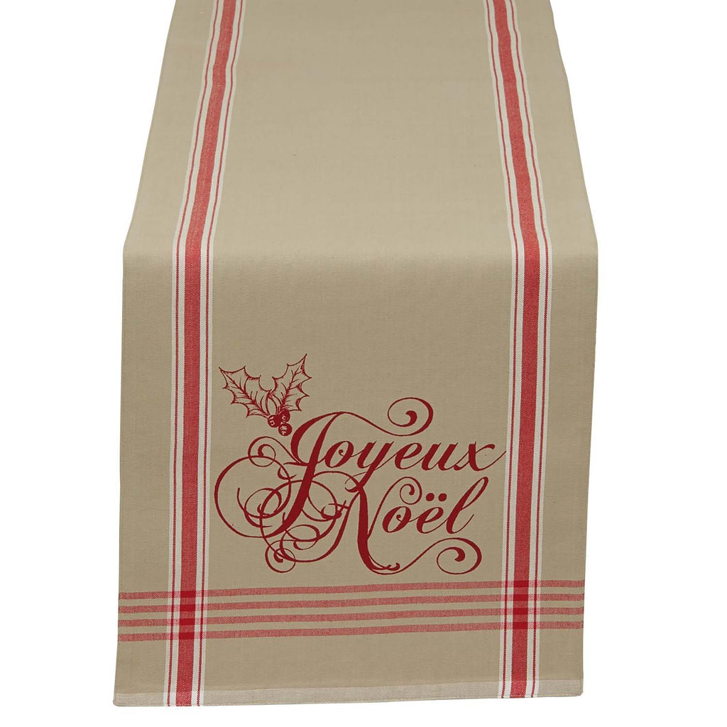 Joyeux Noel Printed Table Runner 14x72