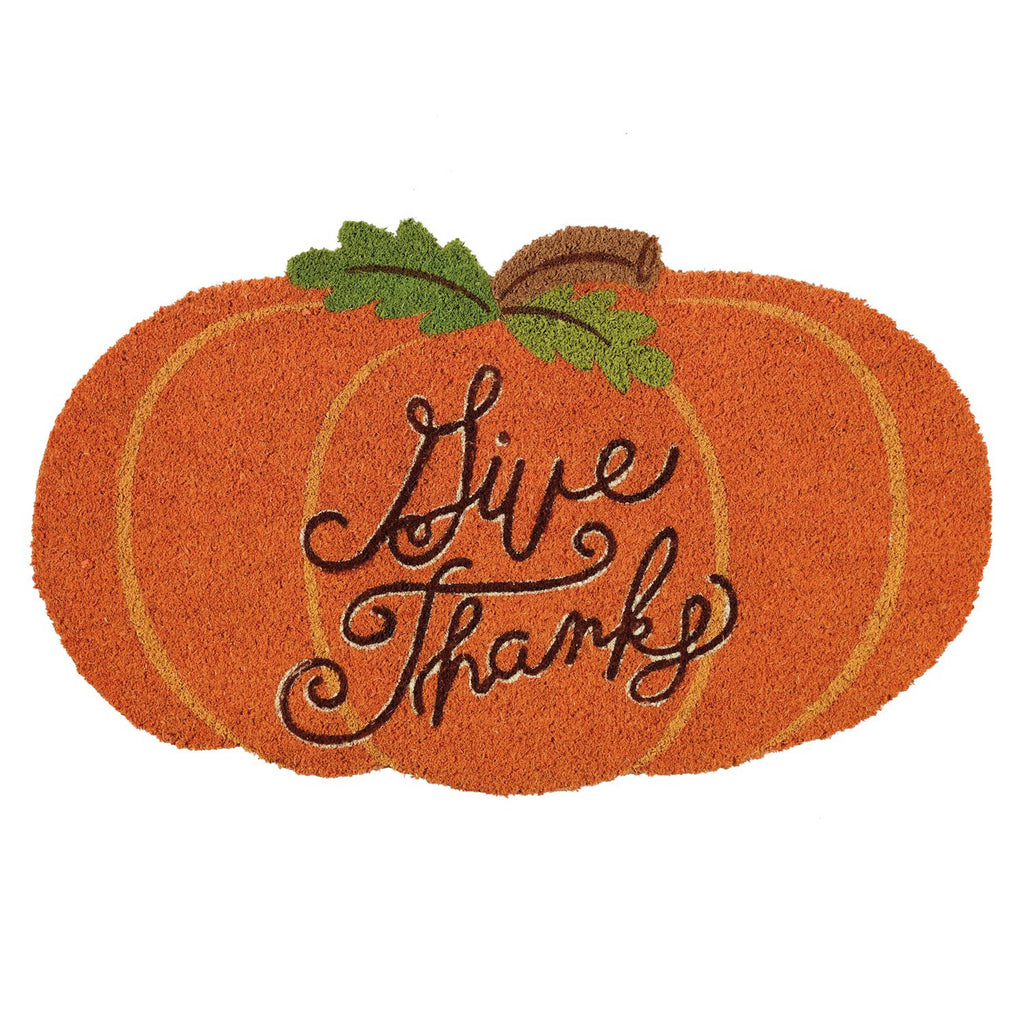 Give Thanks Pumpkin Doormat