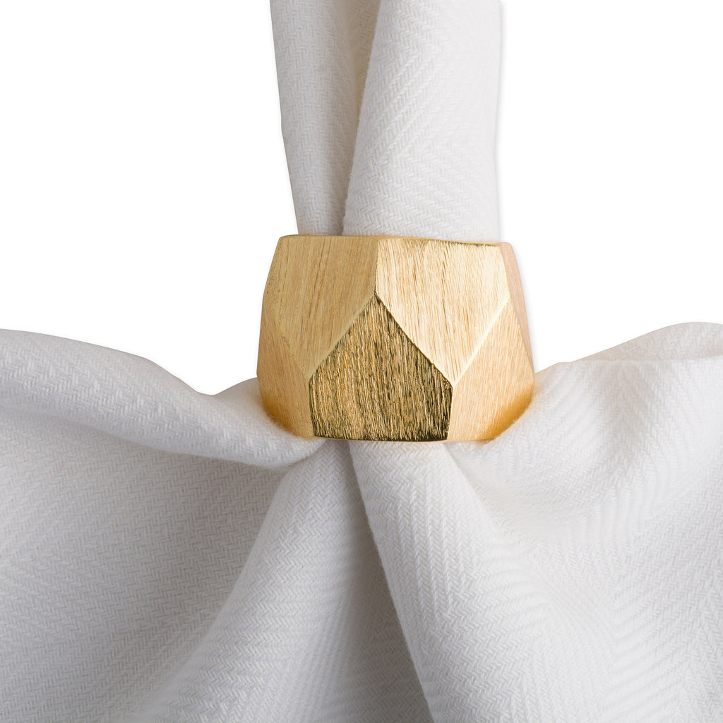 DII Gold Triangle Band Napkin Ring (Set of 6)