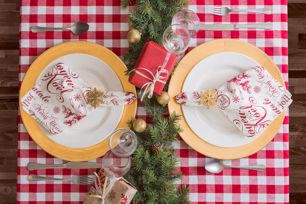 DII Joyeux Noel Plaid Napkin (Set of 6)