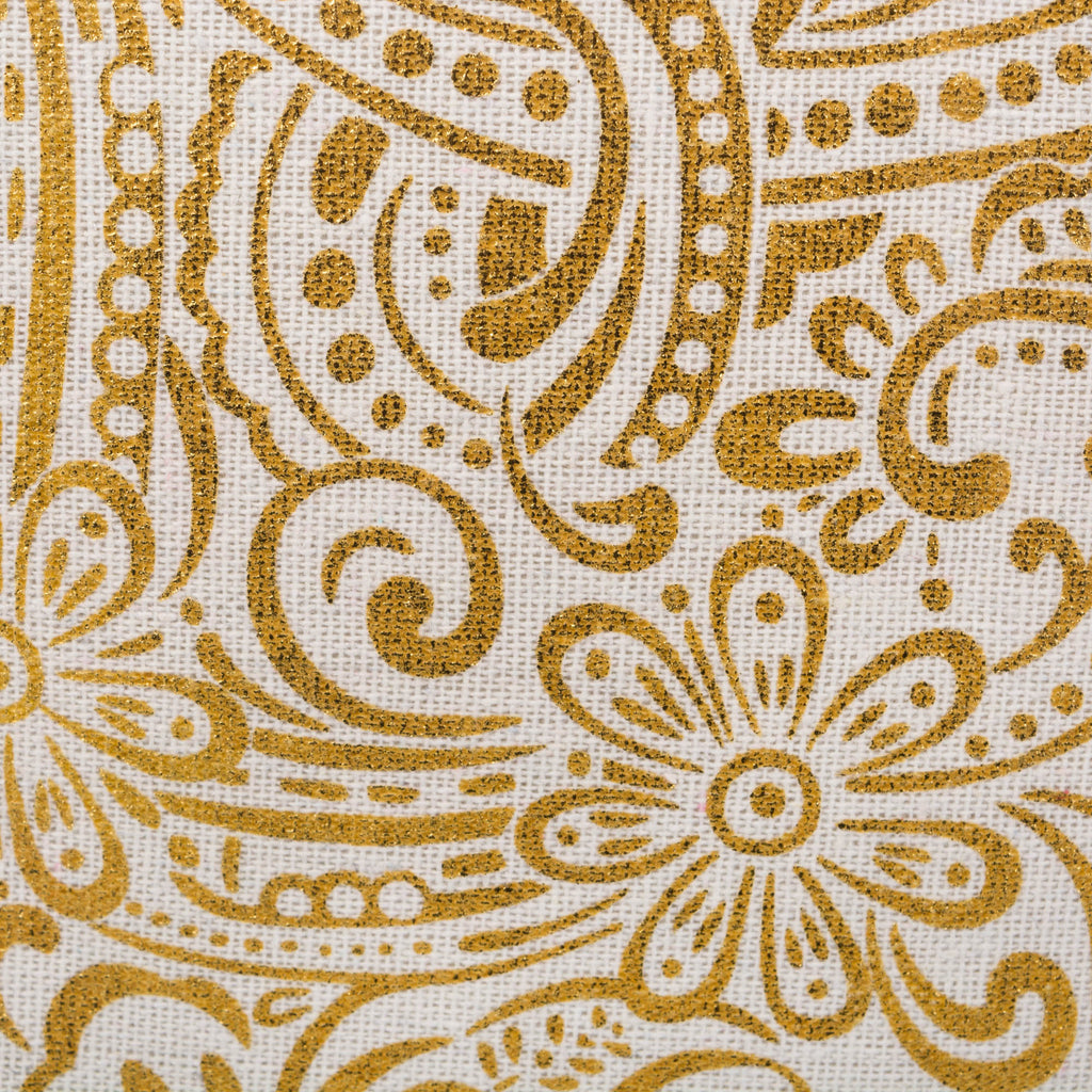 DII Polyester Bin Paisley Gold Round Medium