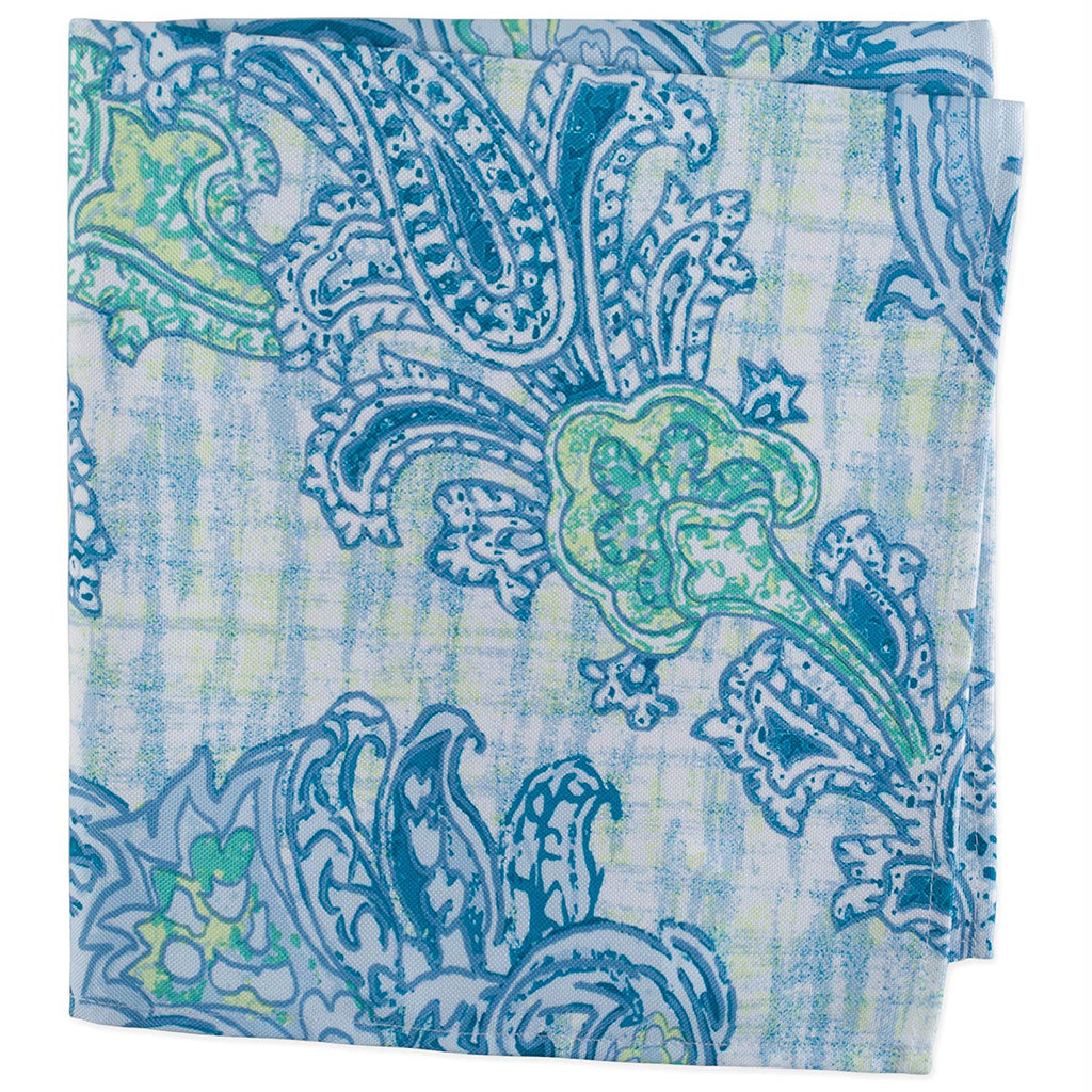 DII Blue Watercolor Paisley Print Outdoor Napkin (Set of 6)