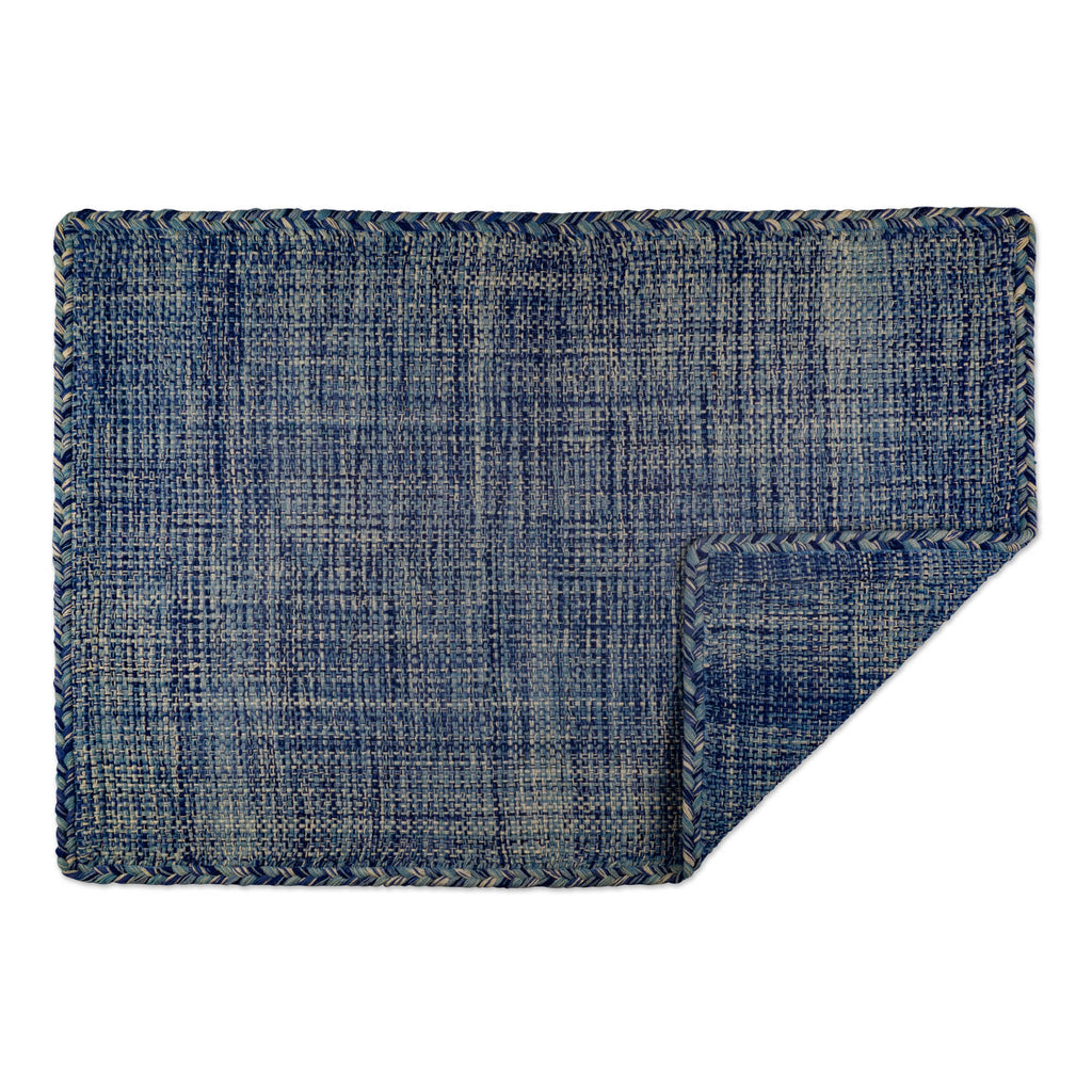 DII Variegated Blue Hand-Loomed Rug