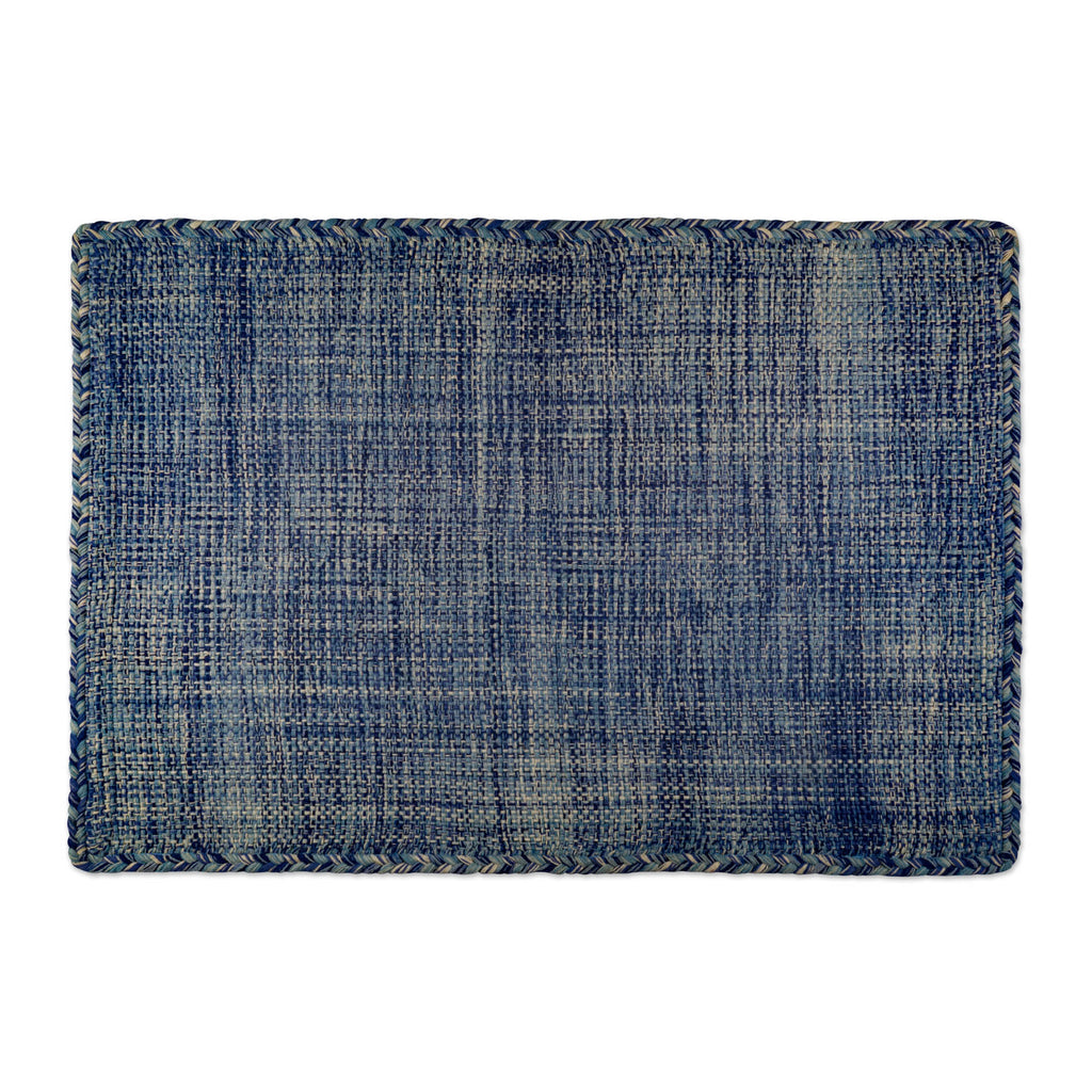 Variegated Blue Hand-Loomed Rug 4x6 Ft