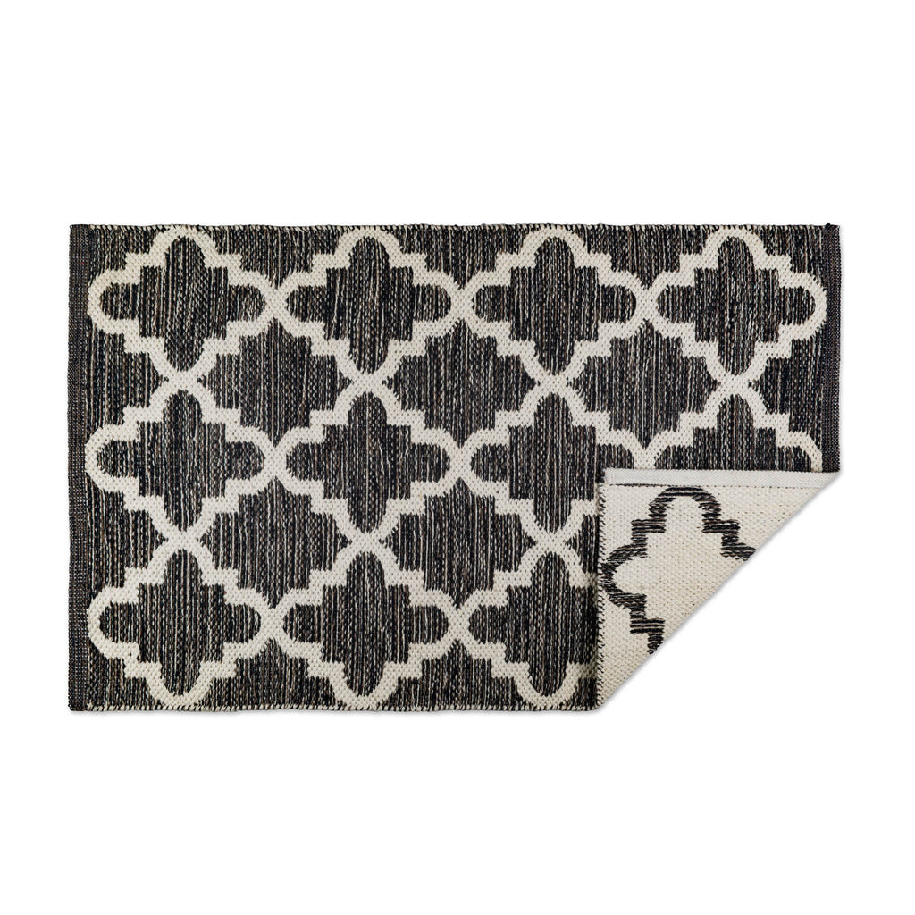 Gray Lattice Hand-Loomed Rug 2x3 Ft