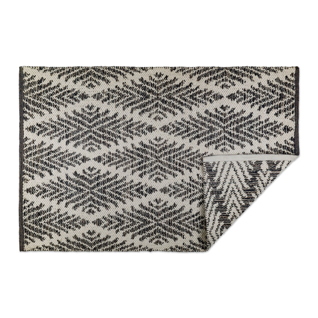 Gray Diamond Hand-Loomed Rug 2x3 Ft