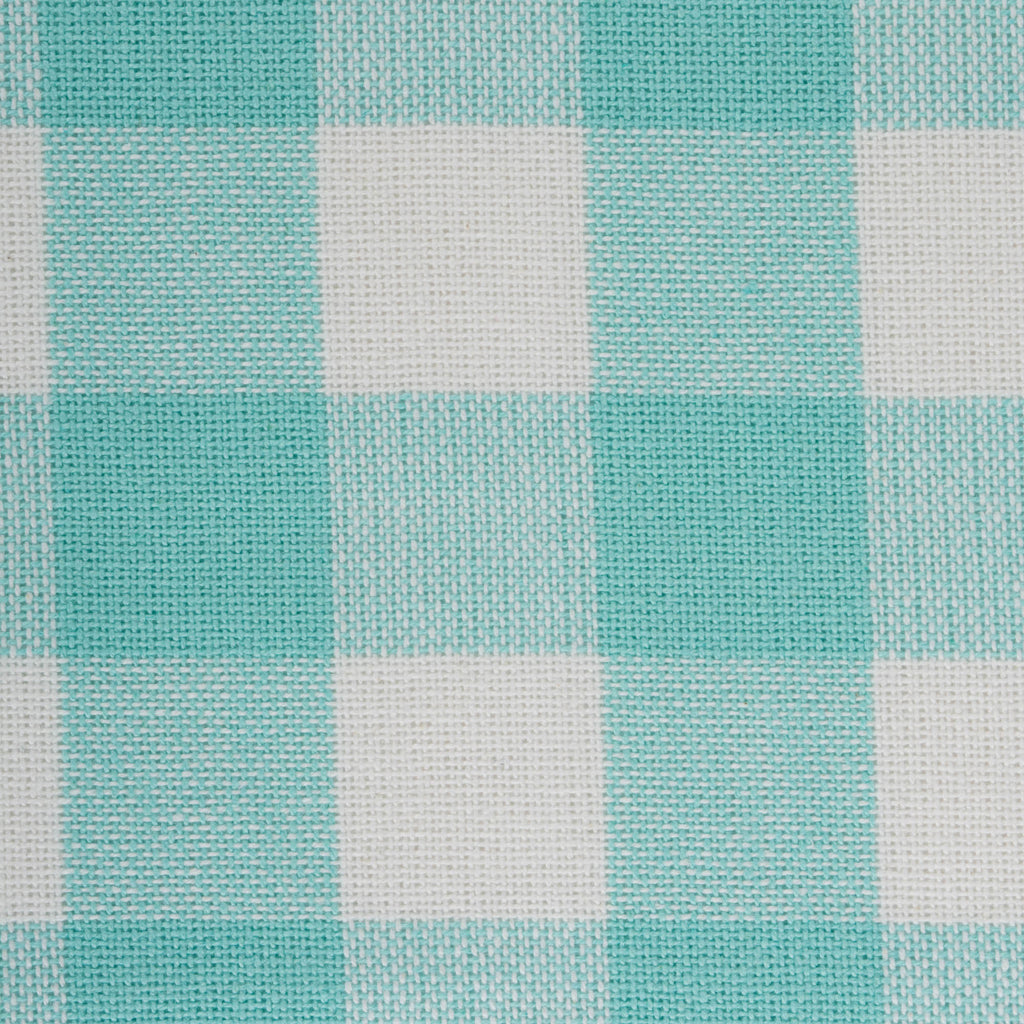 DII Aqua Heavyweight Check Fringed Placemat (Set of 6)