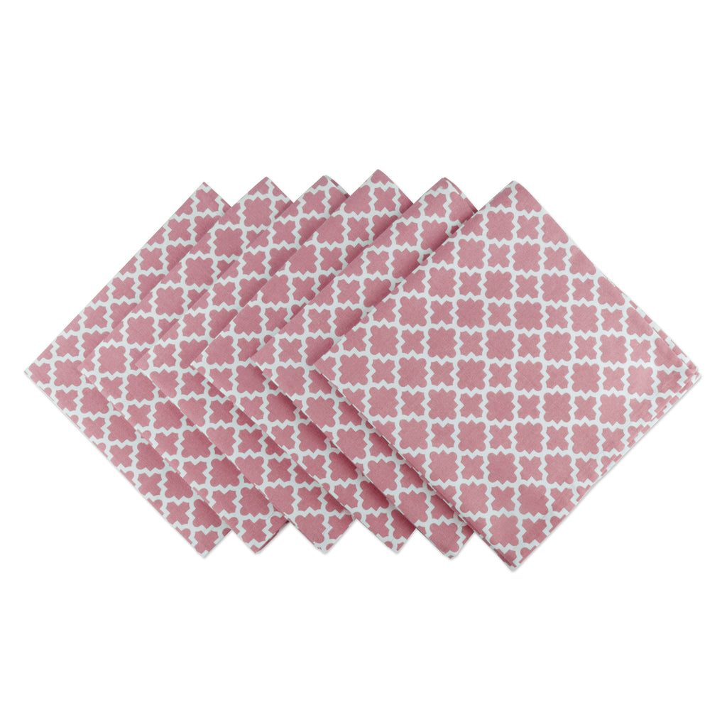 Rose Lattice Napkin Set/6