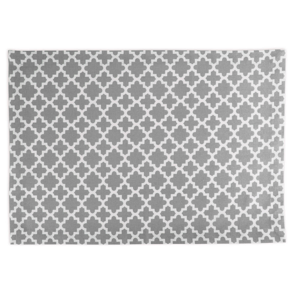 DII Gray Lattice Placemat (Set of 6)