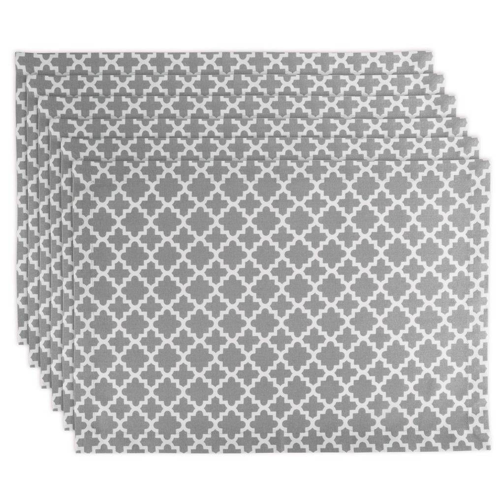 Gray Lattice Placemat Set/6
