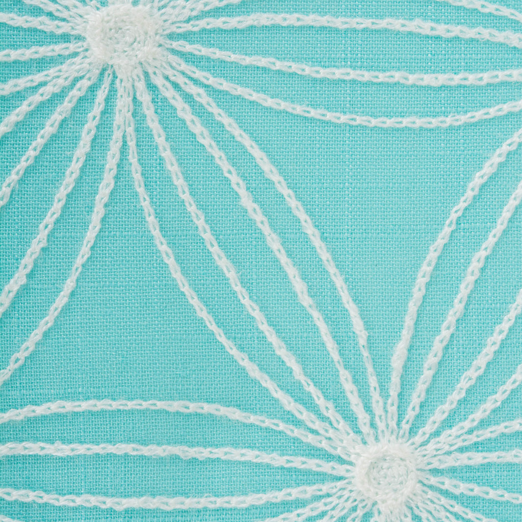 DII Aqua Base Embroidered Flowers Table Runner, 14x70""