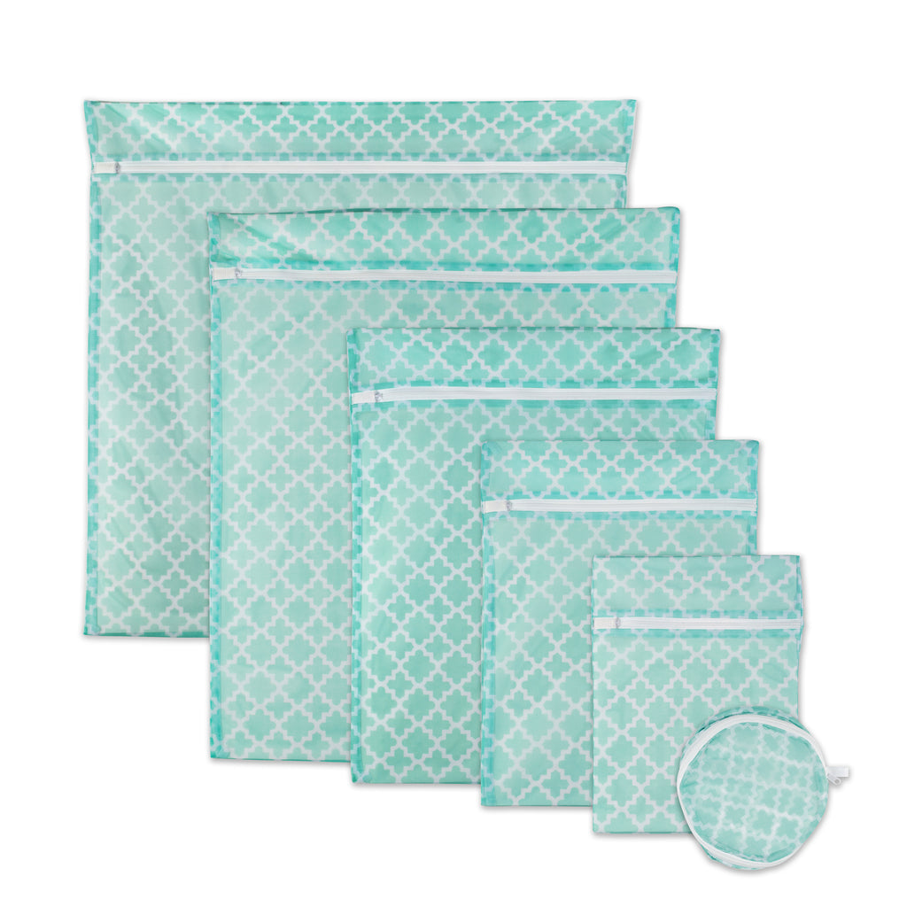 Aqua Lattice Set B Mesh Laundry Bag Set/6