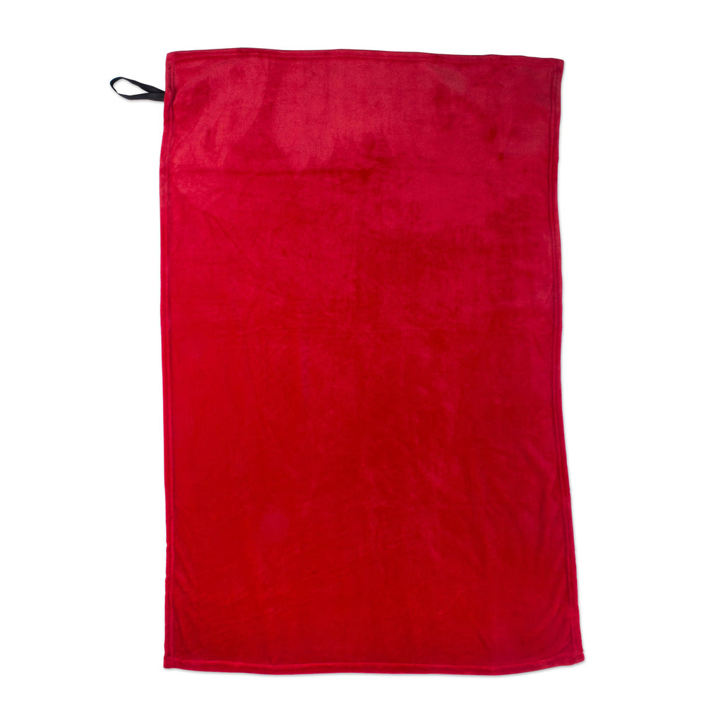 DII Fleece Throw Flame Red