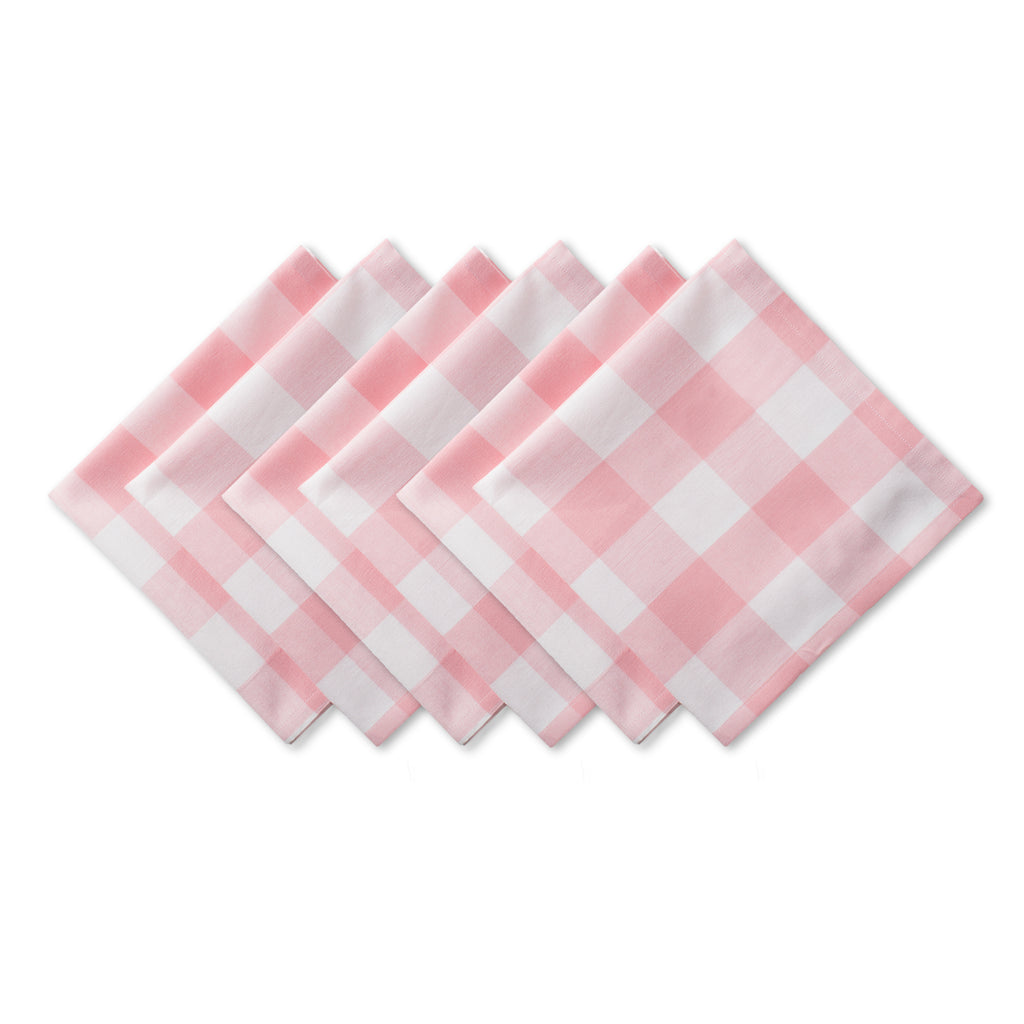 Pink Buffalo Check Napkin Set/6