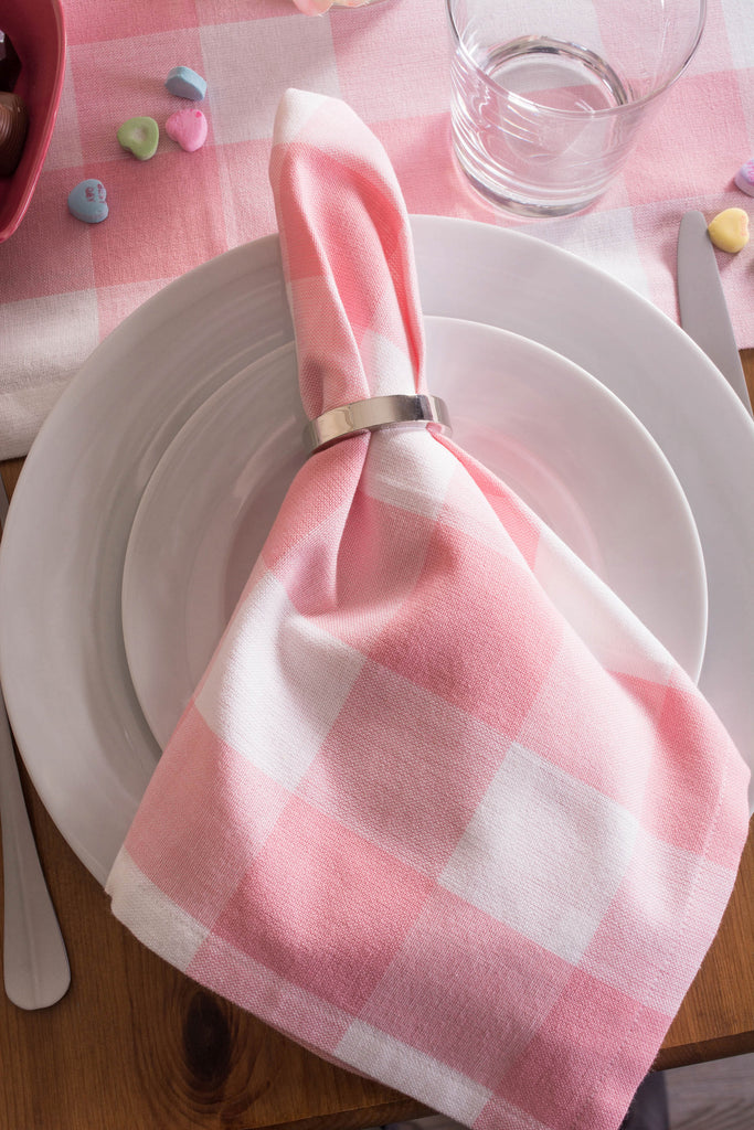 DII Pink Buffalo Check Napkin (Set of 6)