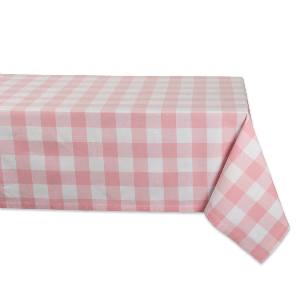 Pink Buffalo Check Tablecloth 52x52