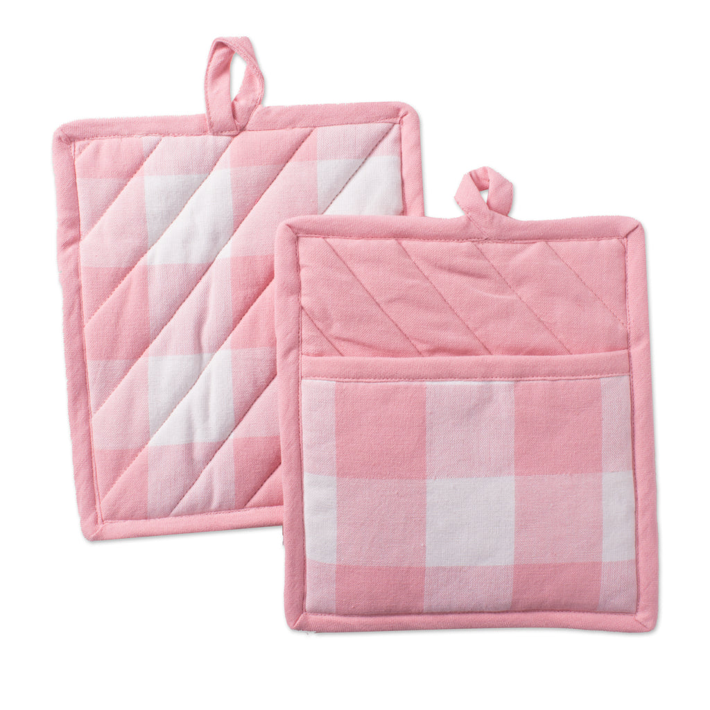 Pink Buffalo Check Potholder Set/2