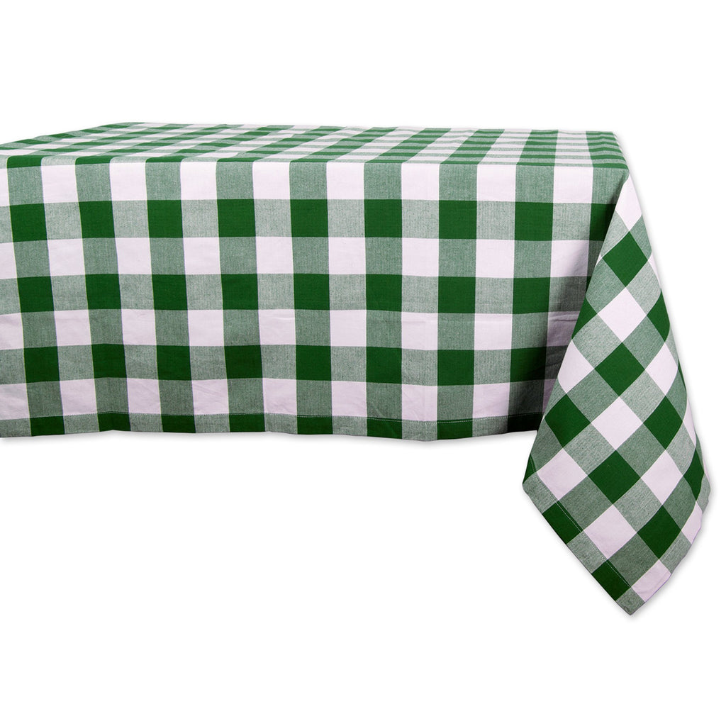 Shamrock Green Buffalo Check Tablecloth 52x52
