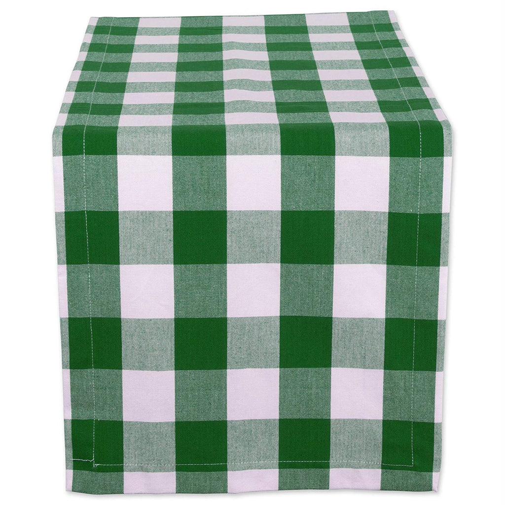 Shamrock Green Buffalo Check Table Runner 14x108