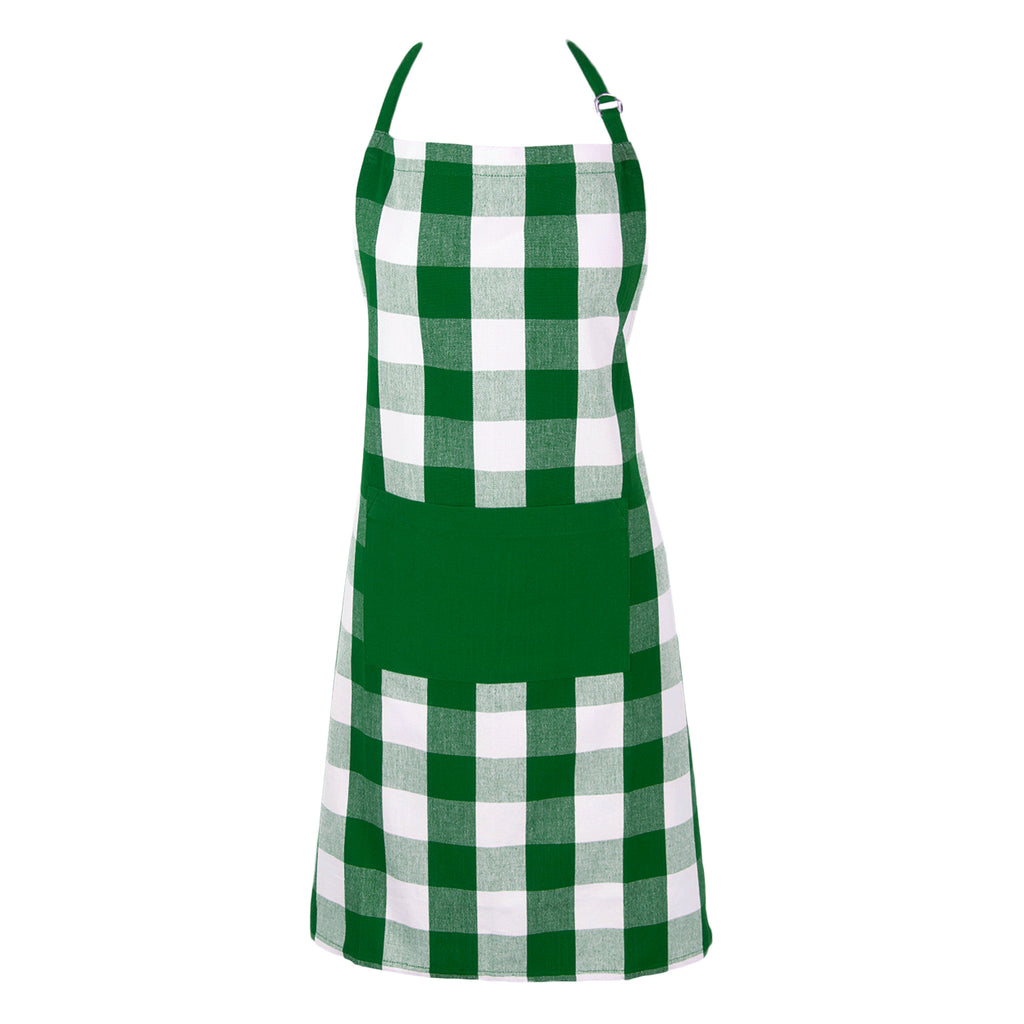 Shamrock Green Buffalo Check Chef Apron