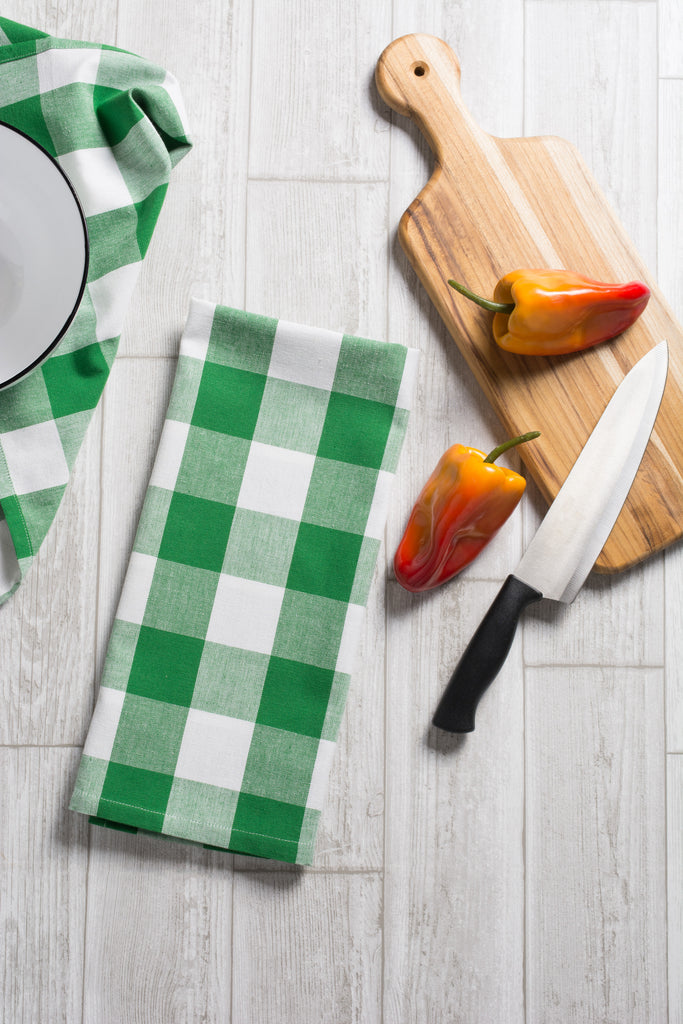 DII Shamrock Green Buffalo Check Dishtowel (Set of 3)