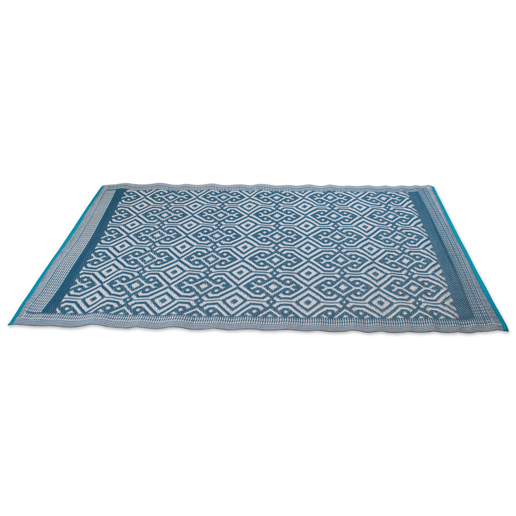 DII Blue Morrocan Outdoor Rug
