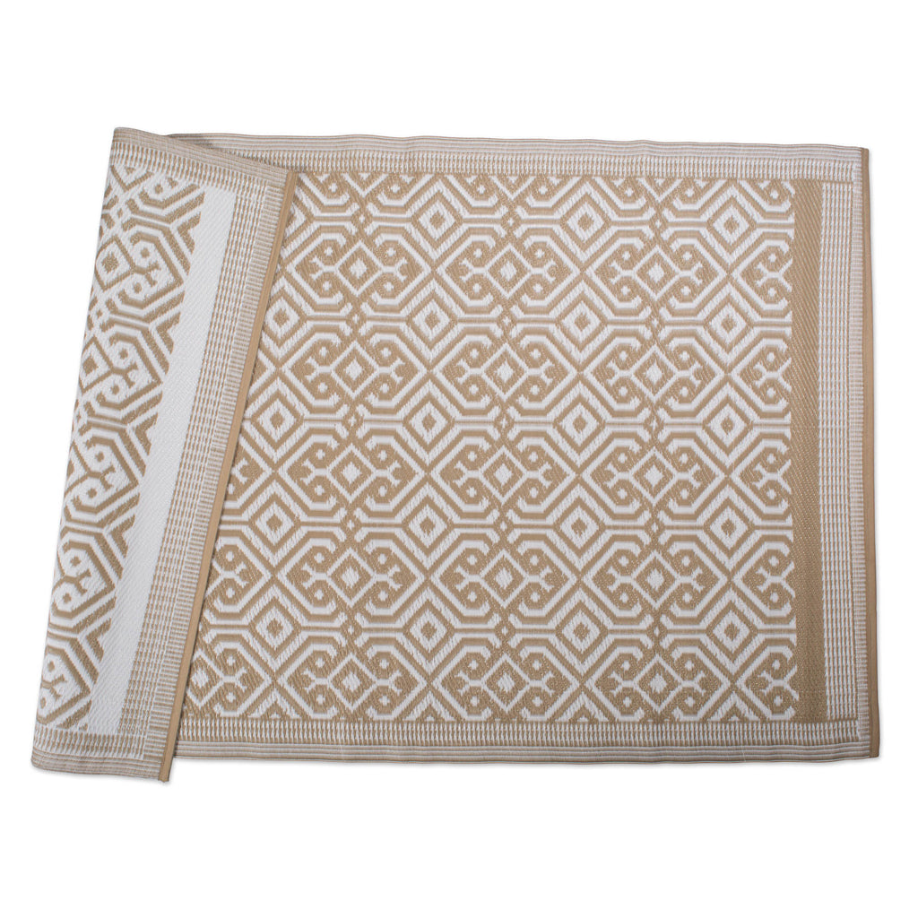 Taupe Morrocan Outdoor Rug 4x6 Ft