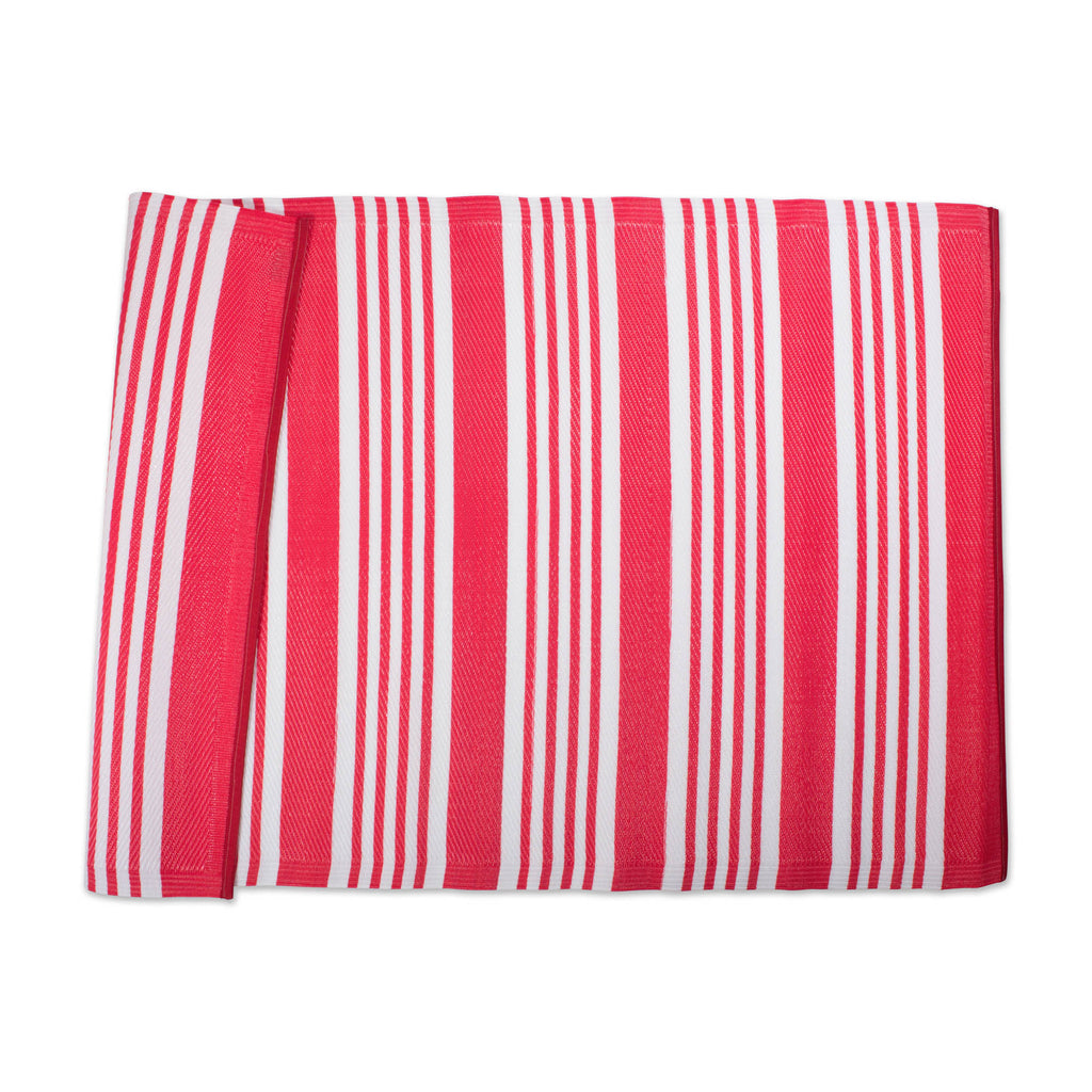DII Coral Multi Stripe Outdoor Rug