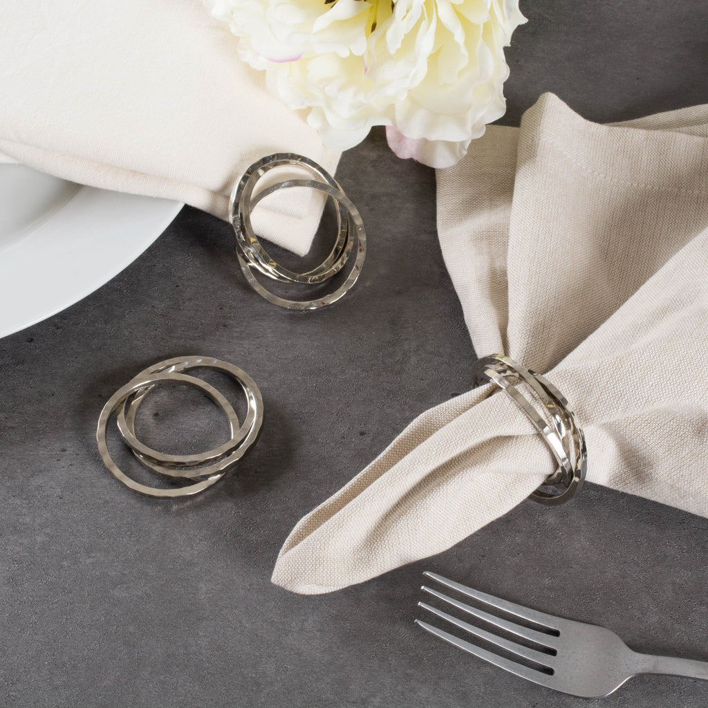 DII Silver Intertwined Napkin Ring (Set of 6)