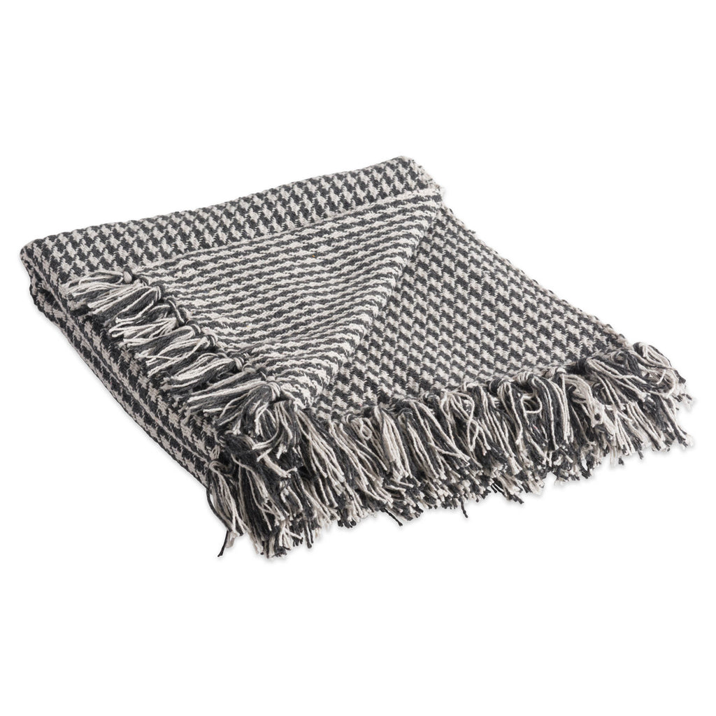 Mineral Houndstooth Throw