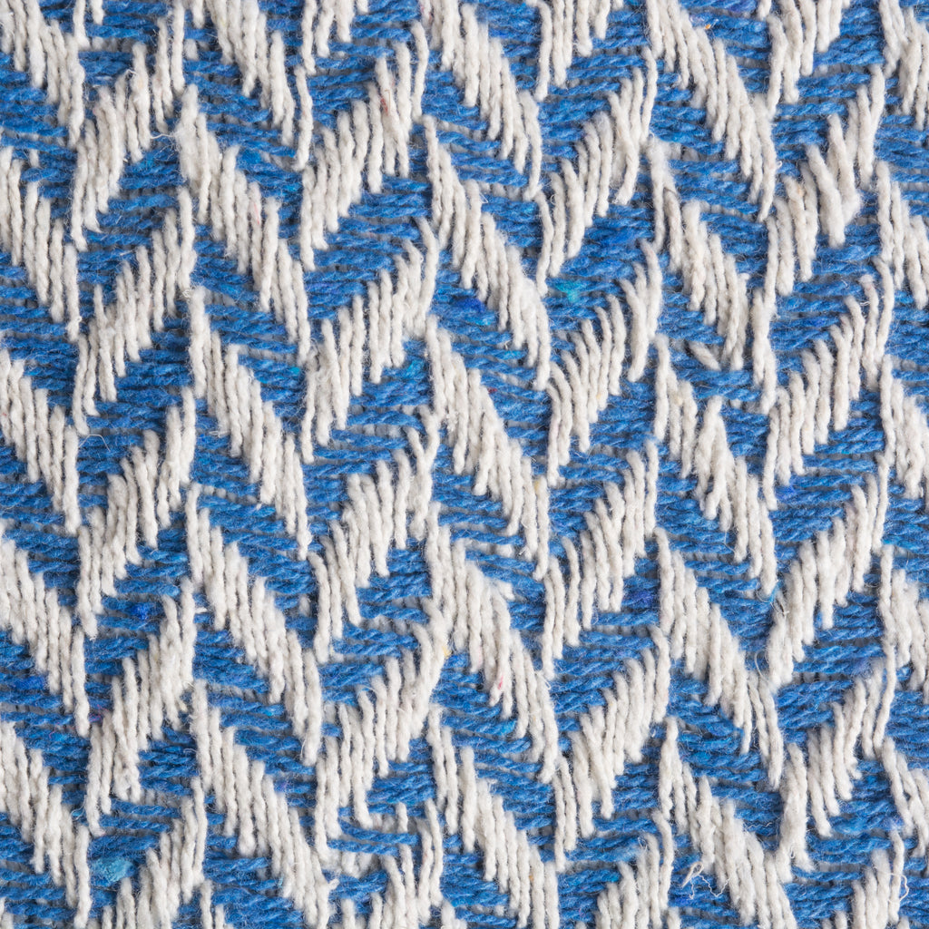 DII Silverlake Blue Zig-Zag Throw