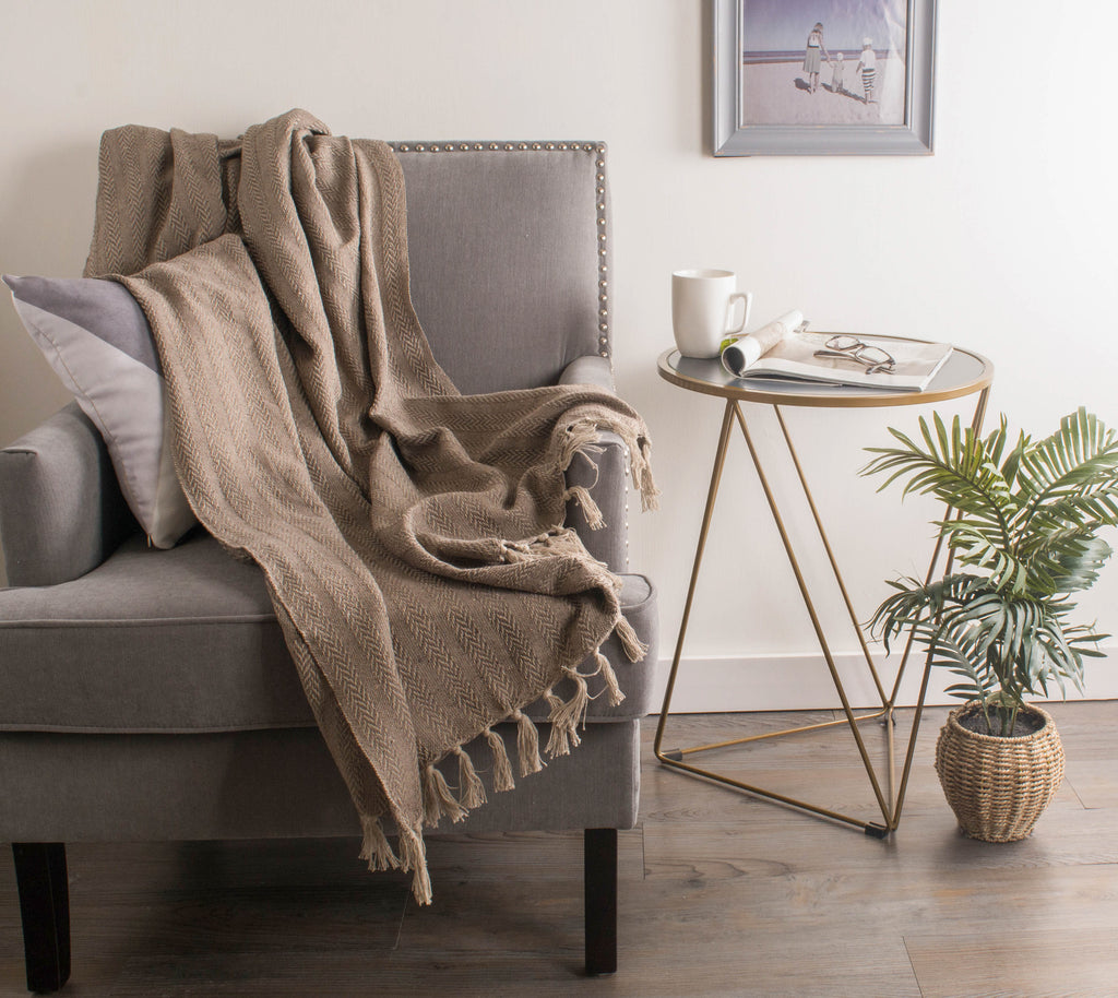 DII Stone Tonal Textured Throw