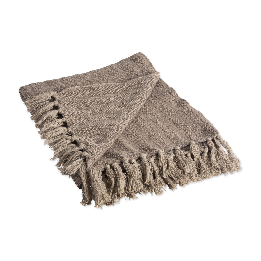 Stone Tonal Textured Throw
