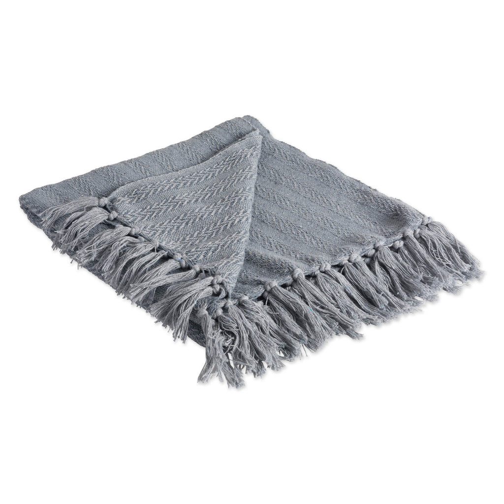 Cool Gray Solid Textured Throw