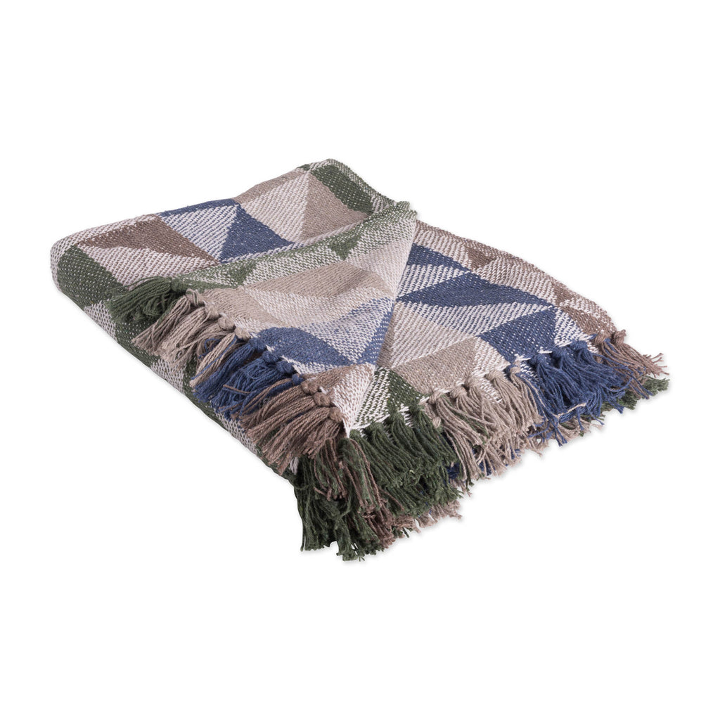 Natural Triangle Jacquard Throw