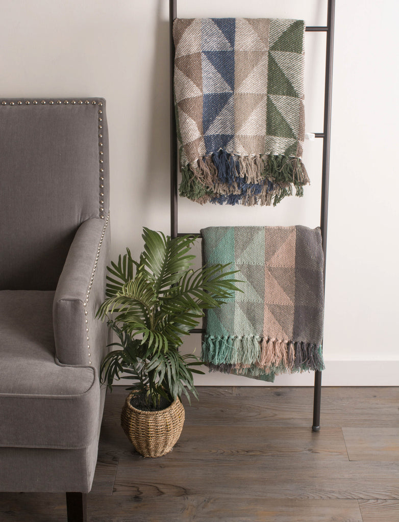 DII Natural Triangle Jacquard Throw