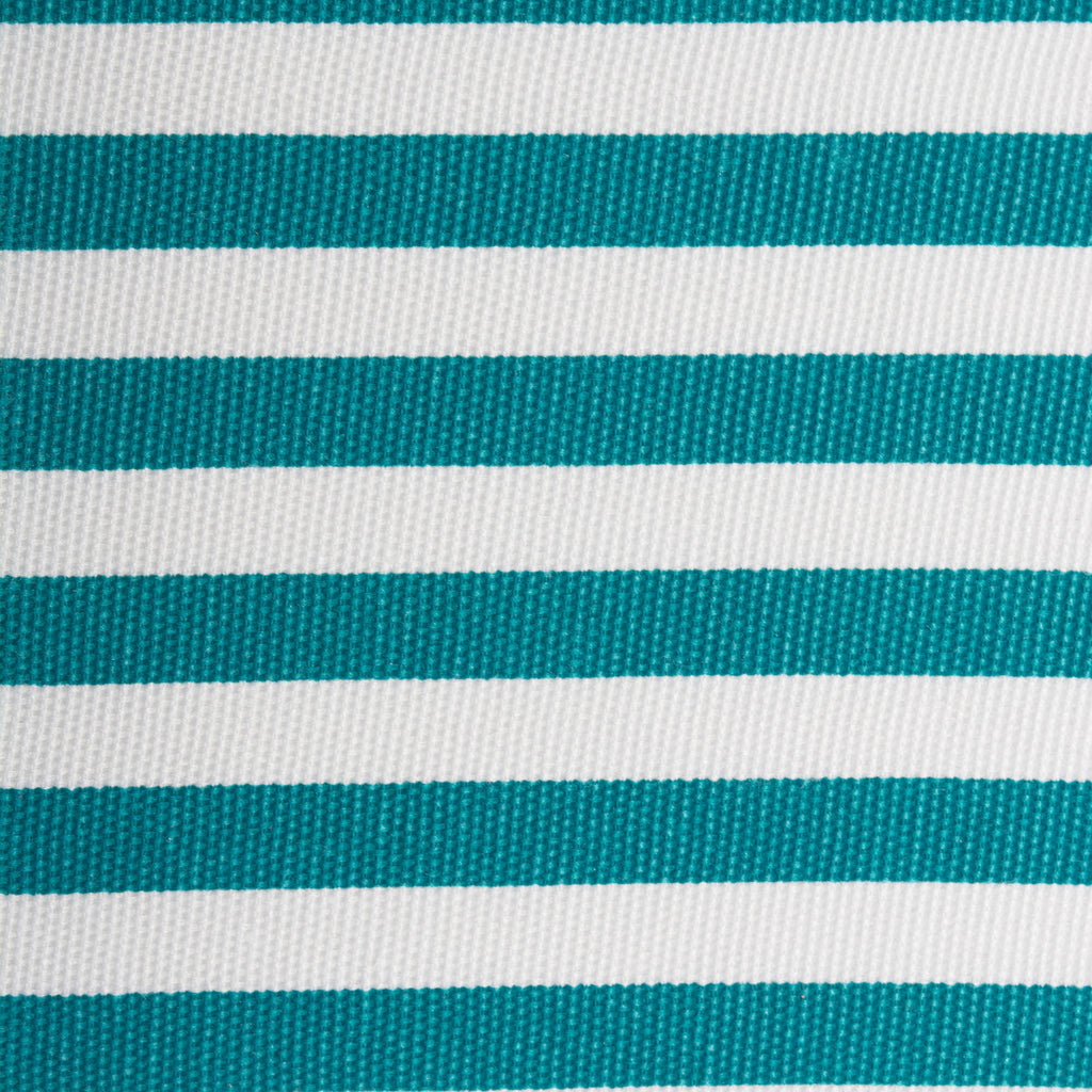 DII Polyester Cube Pinstripe Teal Square