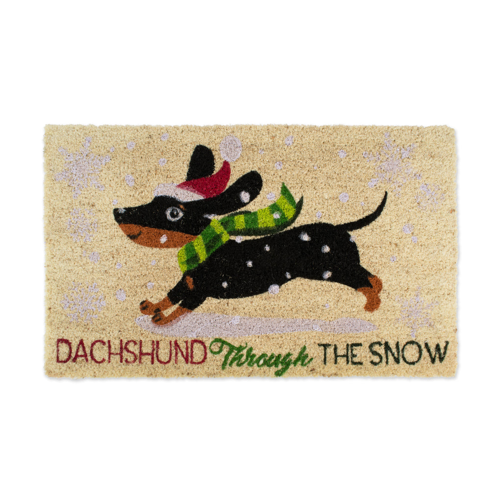 Dachshund Through The Snow Doormat