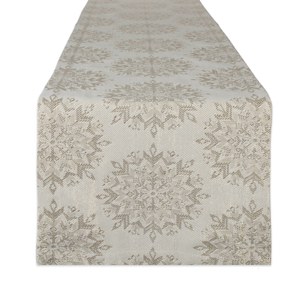 Winter Sparkle Jacquard Table Runner 14x108