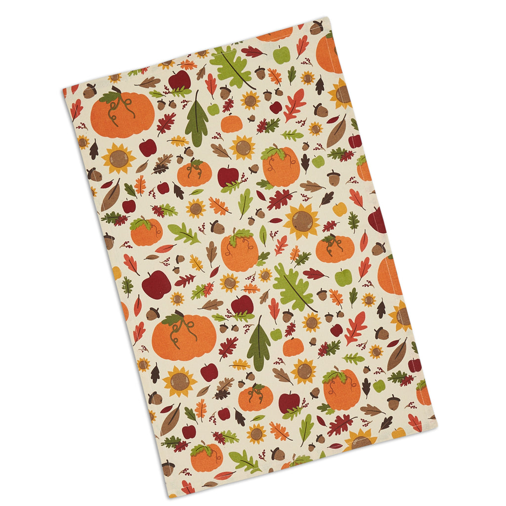 DII Pumpkin Harvest Printed Dishtowel