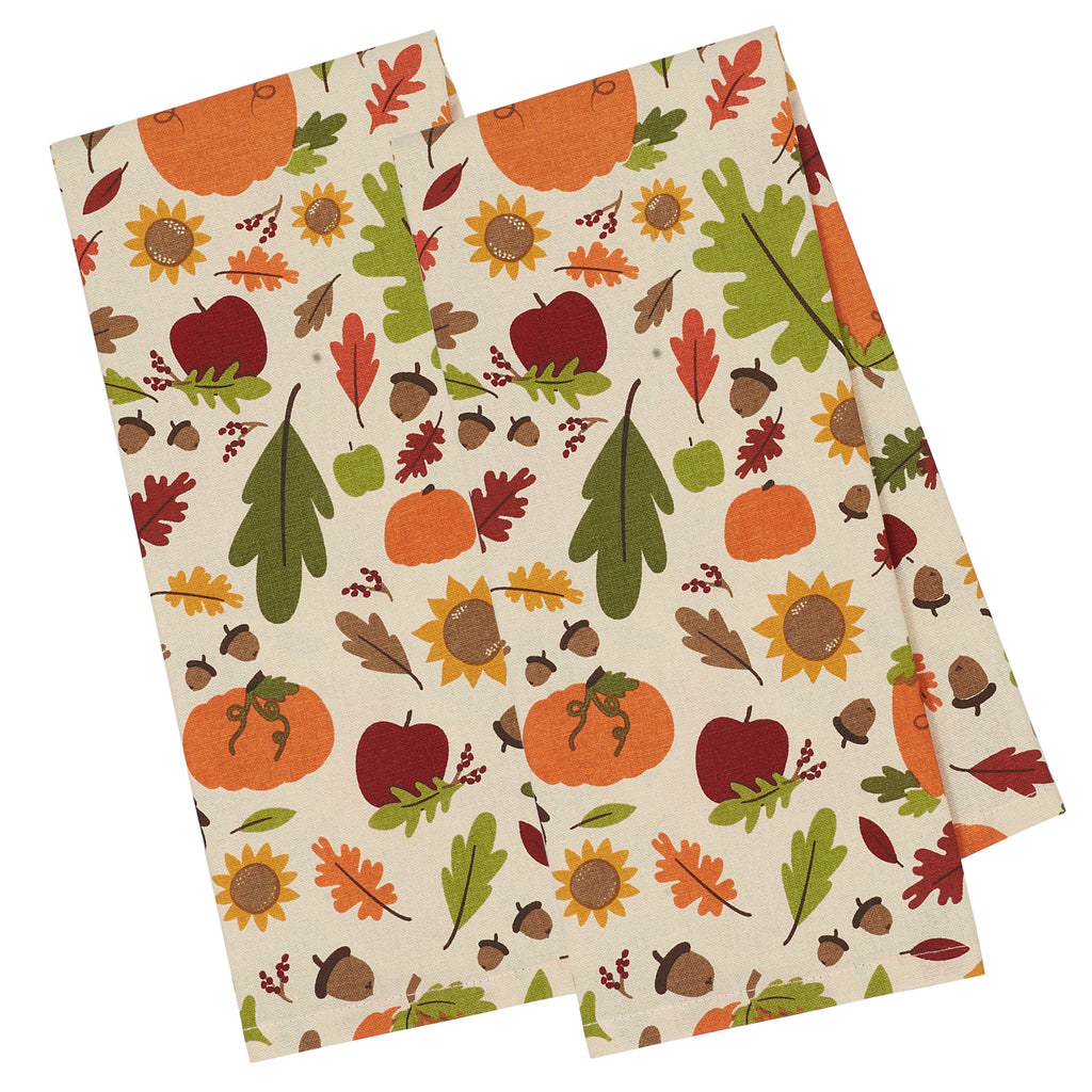 Pumpkin Harvest Printed Dishtowel