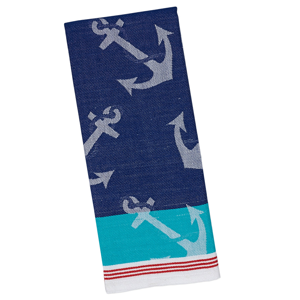 DII Anchors Away Jacquard Dishtowel (Set of 2)
